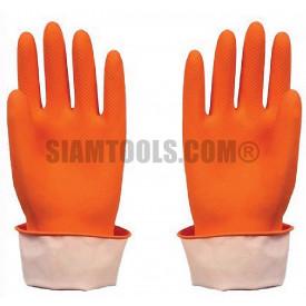 ถุงมือยาง รุ่นบางสีส้ม Starway- Size L ฮาร์ดแวร์