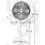 """พัดลมอุตสาหกรรม FF-14ุ609 (24"""") ฮาร์ดแวร์"""