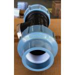 """สามทางเกลียวใน สำหรับท่อ HDPE แบบสวมอัด (63mmx2"""") ประปา"""