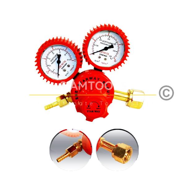 เกจ์วัดแรงดันแก๊ส อะเซติลีน-Acetylene Regulator ฮาร์ดแวร์