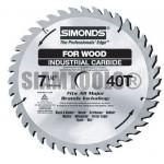 """ใบเลื่อยวงเดือน-17"""" (430mm) x40T สำหรับงานไม้SiMonds ฮาร์ดแวร์"""