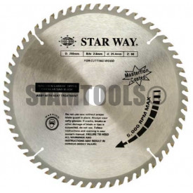 """ใบเลื่อยวงเดือนสำหรับงานไม้ Starway-  12"""" x 30T ฮาร์ดแวร์"""