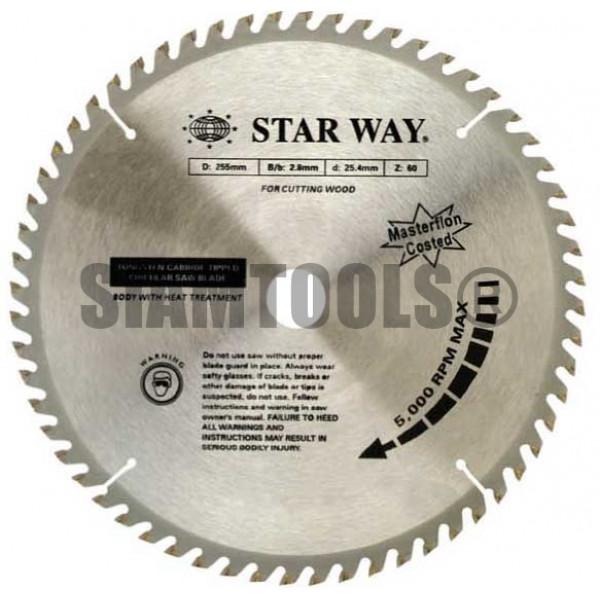 """ใบเลื่อยวงเดือนสำหรับงานไม้ Starway- 10"""" x 120T ฮาร์ดแวร์"""