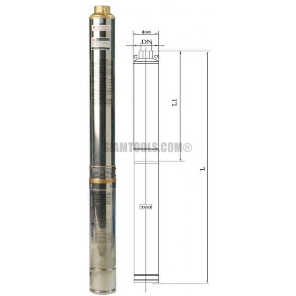 ปั๊มน้ำบาดาล TAYO 4STM4 -18 (2HP) เครื่องมือการเกษตร