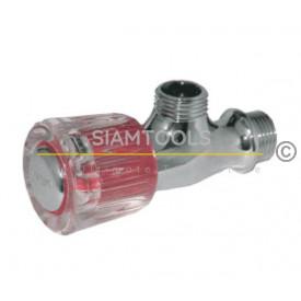 ก๊อกต่อฝักบัวหัวแก้ว ระบบลูกยาง-ST311-N4 ประปา
