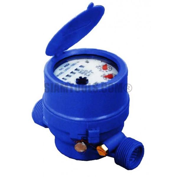 """มิเตอร์น้ำ มาตรวัดน้ำระบบแม่เหล็ก 1/2""""  ประปา"""