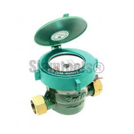 """มิเตอร์น้ำ มาตรวัดน้ำสีเขียว SMG ขาทองเหลือง (1/2"""") ประปา"""