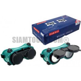 แว่นตาเชื่อม 2 ชั้นกระจกกลม PY-6101A ฮาร์ดแวร์